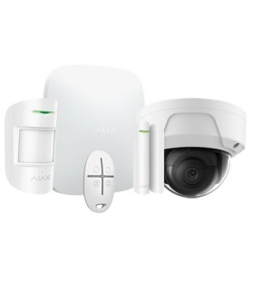 Kit de alarme wireless Ajax AJ-HUBKIT-W com camara Dome IP WIFI