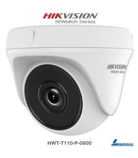Camara dome Hikvision 720p ECO Lente 6 mm -HWT-T110-P-0600
