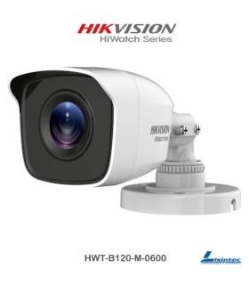 Câmara bullet Hikvision 1080p, lente 6 mm - HWT-B120-M-0600