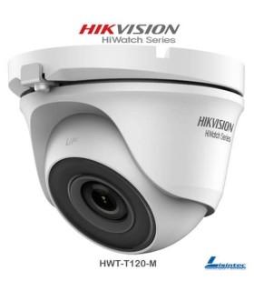 Cámara domo Hikvision 1080p, lente 2.8 mm - HWT-T120-M