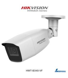 Câmara Bullet Hikvision 4Mpx 4 em 1 com lente varifocal - HWT-B340-VF