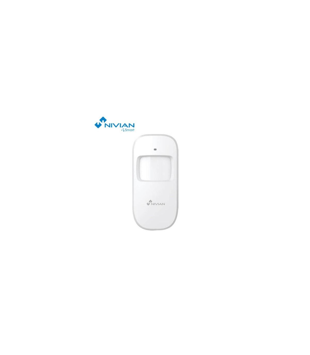 Detector de movimiento inal/ámbrico para interior Compatible con Panel de Alarma Nivian Smart Nivian Smart NVS-D2A Inmune a Mascotas 20Kg
