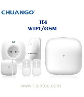 Sistema de alarme WIFI e GSM Chuango H4