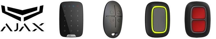 Teclados, controles remotos y botones de emergencia para alarmas Ajax